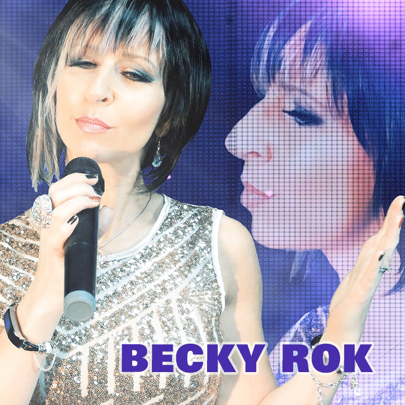 Becky Rok is an International Female Vocalist who performs a vast catalogue of floor filling songs from across the decades