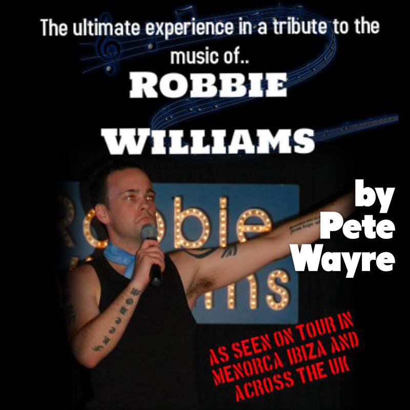 Robbie Williams Tribute by Pete Wayre