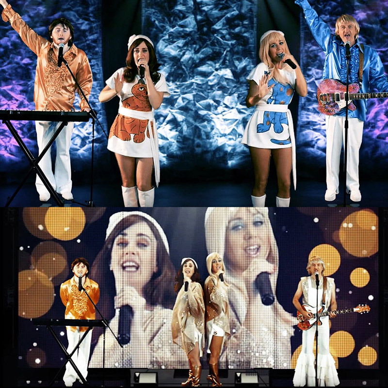 Abbsolute ABBA tribute band on stage