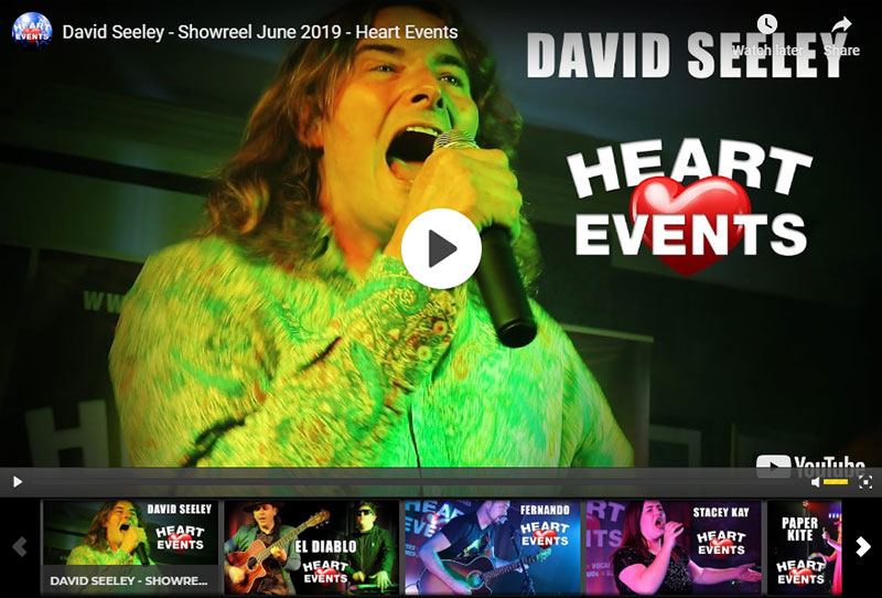 Heart Events Entertainment Agency showcase event June 2019